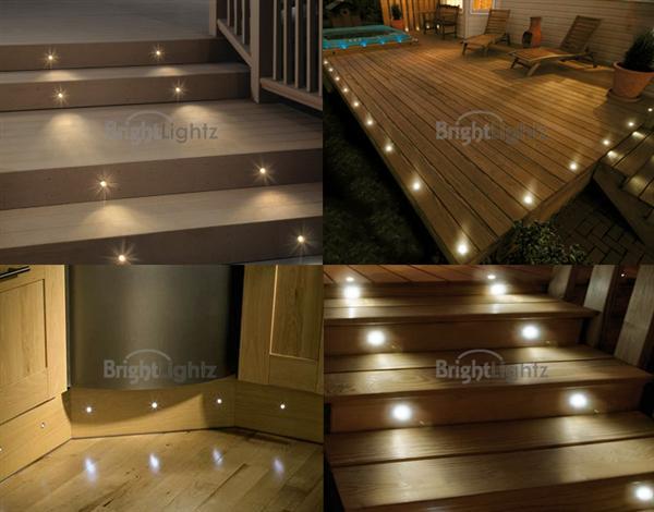 Set Of LED Deck Lights Decking Plinth Kitchen Lighting - Kitchen plinth lights white