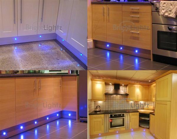 set of 10 led deck lights decking plinth kitchen lighting set