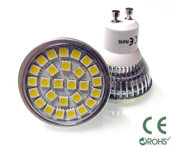 gu10 5w led bulb with 24 x 5050 smd chips 50w halogen. Black Bedroom Furniture Sets. Home Design Ideas