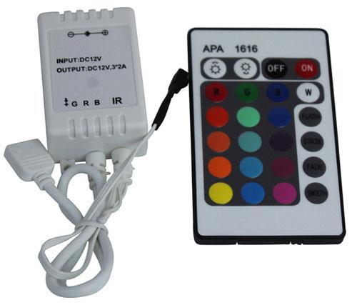 Rgb led strip light controller 24 key infrared controller brightlightz rgb led strip light controller 24 key infrared controller aloadofball Gallery