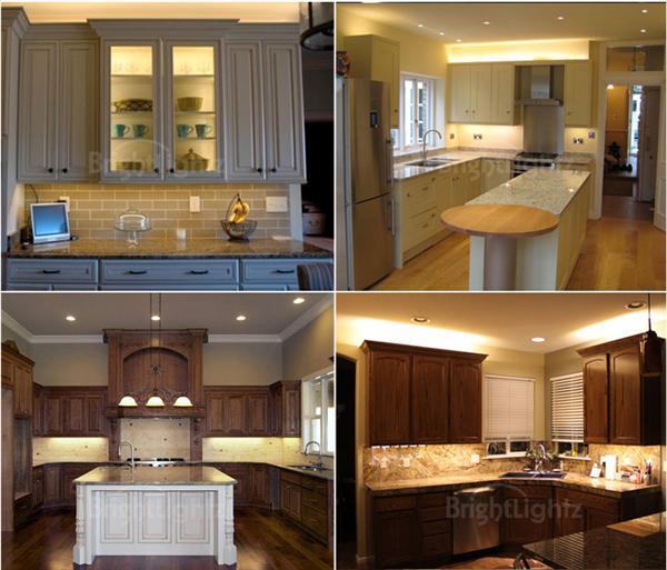 Led Strip Lighting Kitchen Ideas: Warm White Under Cabinet Kitchen Lighting / Plasma TV LED